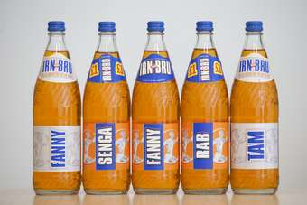 The personalised Irn Bru line-up