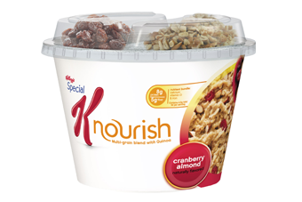 Nourish hot cereal is the first hot cereal from Special K