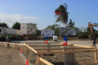 Work began last year on the construction of the $300m Caracol Industrial Park in Haiti