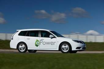 The Saab 9-3 ePower is a prototype for a test fleet of 70 vehicles which will participate in extensive field trials in Sweden early next year.