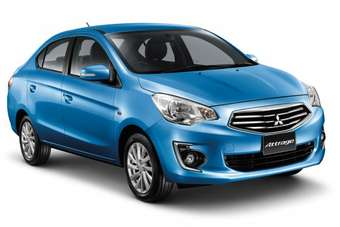The new Attrage will compete with other locally-built Eco-Car small sedans such as the Honda Amaze