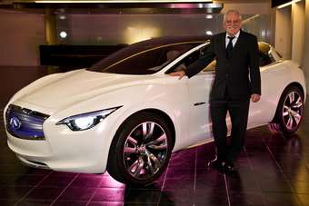 Colin Dodge and the Etherea concept which Infiniti revealed at the 2011 Geneva show as a preview of its future C-segment model