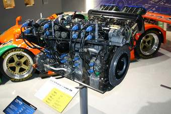 The R26B four-rotor engine and the 787B at Mazda