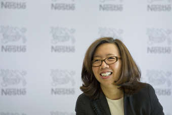 "Nestle CFO Martello said food giant was ""upbeat"""