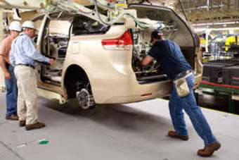 Toyota Has Begun Production Of The 2011 Sienna Minivan At Toyota Motor  Manufacturing, Indiana (TMMI) In Princeton. Fully Redesigned For North  American ...
