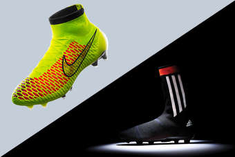 eb44acee5d9d The Nike Magista Football (left) and Adidas Primeknit FS boots were revealed  last week