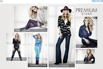The premium fashion store includes denim, lingerie, dresses, and outerwear