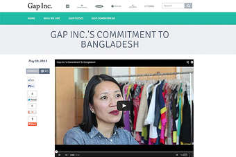 Gap set up its own website to explain its commitment to Bangladesh