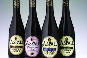 The new-look Aspall. Click below for full bottle shots.