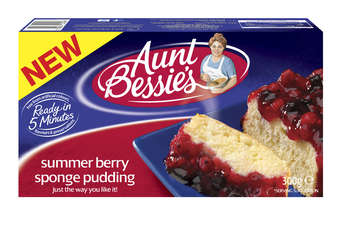 Summerfruit Crumble and Summer Berry Sponge Pudding will be available from 10 March