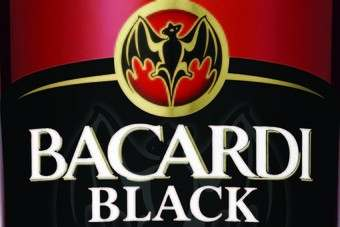 Click through to see a bottle-shot of Bacardi Black