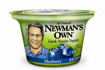 Newmans Own blueberry Greek yoghurt