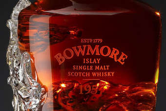 The Bowmore 1957 is valued at about GBP100,000 (US$155,000)