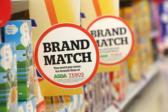 Sainsburys ran the advert in October for its Brand Match scheme