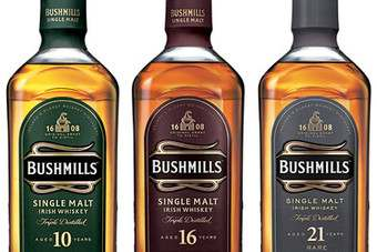 The new-look Bushmills. Click below to view old versus new.