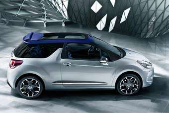 The DS3 Cabrio was on display at Citroen UK