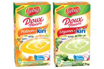 The Kiri-flavoured Liebig soup was launched in French supermarkets earlier this month