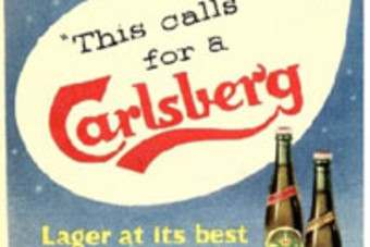 A Carlsberg advert from 1957