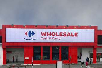 The Carrefour store in New Delhi, opened last week and operates under the name Carrefour Wholesale Cash&Carry