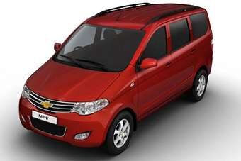 The Enjoy was badged as the Chevrolet MPV concept at last years New Delhi motor show