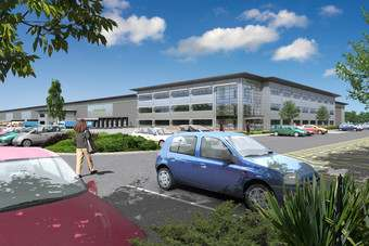 An impression of what the Lancashire distribution centre will look like