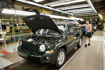 Italian-built Jeep will be smaller than current Patriot, seen here on a US line