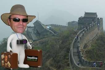 Our adventurer saw the Great Wall Wingle; his photographer saw the wall itself...
