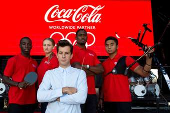A Coca-Cola anthem has been created by UK producer Mark Ronson