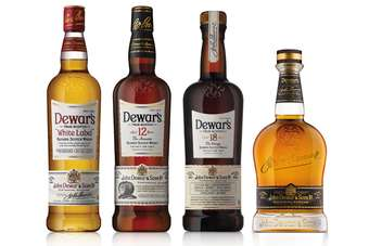 The new look Dewars line-up
