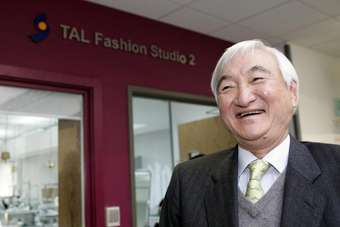 Dr Richard Lee outside the TAL fashion studios at Middlesex University