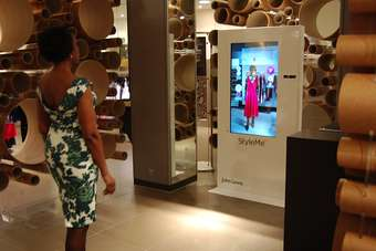 The John Lewis StyleMe mirrors will be located in the retailers Oxford Street store in London