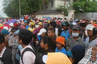 Up to 415 Cambodian factory workers have been sacked for striking
