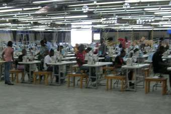 The Haiti Apparel Center, funded by USAID, has been set up to training garment workers