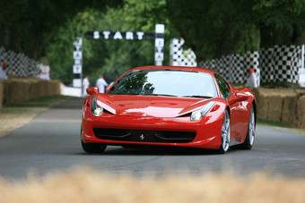 A 458 Italia in action at Goodwood, England