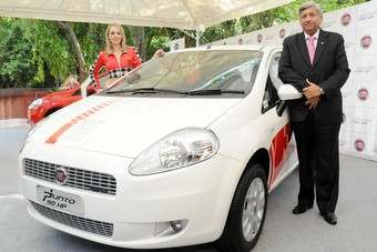 Fiat India Rajeev Kapur launches the 90hp Multijet diesel Grand Punto this week
