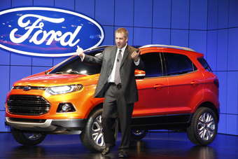 Ford Asia Pacific chief Joe Hinrichs launches the EcoSport at the New Delhi Expo earlier this month