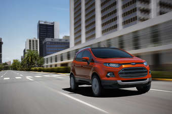 Unlike its Peugeot 2008 and Renault Captur rivals, the (FWD) EcoSport can also be ordered with all-wheel drive