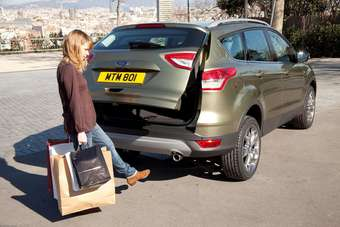 Optional hands-free tailgate open/close is a segment first in Europe for the new Kuga