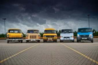 Five decades of Ford Transit vans - the first was built in Europe in 1965