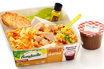 Bonduelle product contains a Bonne Maman dessert