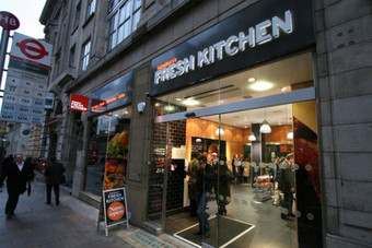 Sainsburys opened its Fresh Kitchen store this morning