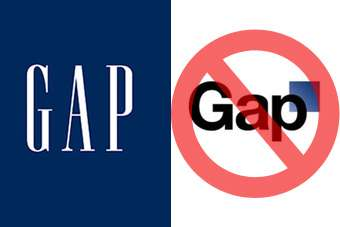 An online backlash has persuaded Gap to keep its familiar blue and white logo