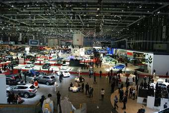 Geneva 2011. Compact PalExpo venue an easy walk from the airport is popular with journalists and auto executives alike
