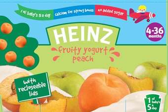 Heinz has added Fruity Pudding with Banana and Oats, and Fruity Yogurt Peach to its range