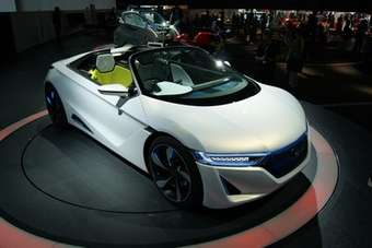 Honda is showing this two-seat electric roadster concept in Tokyo