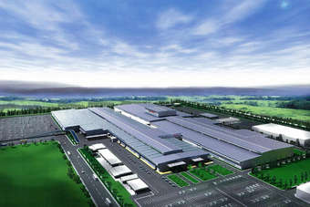 Hondas second Thai car plant shown in this 2008 artists rendering released at the time construction plans were announced