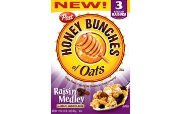 Sales of Posts Honey Bunches of Oats and Pebbles, Posts brands were down 2.4% and 6.7%, respectively