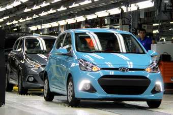 The redesigned 2013 i10 on the final line. European cars will now come from Turkey instead of India
