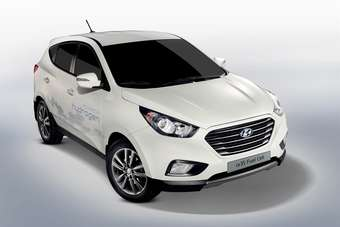 Hyundai began assembling this fuel cell version of the Tucson at its Ulsan works in February