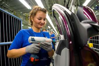 Hyundai assembly line in Russia. Like many foreign OEMs in Russia, Hyundai is planning to increase production capacity